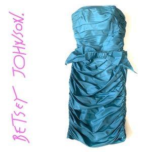 Betsy Johnson Blue bodycon evening silk Dress